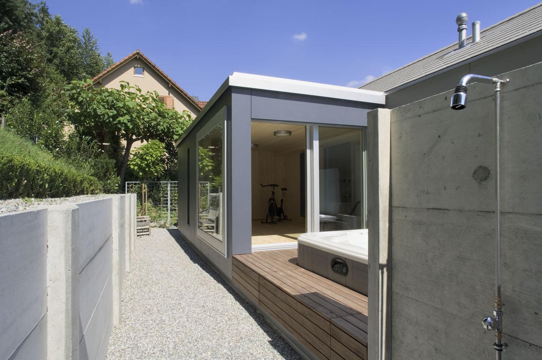 anbau aus holz holzbau funk carports und garagen moderner holzbau anbau terrassendach aus. Black Bedroom Furniture Sets. Home Design Ideas